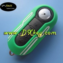 Green key fob cover for Fiat remote key 3 button remote replacement key shell SIP22 folding blade