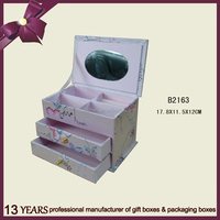 Beautiful design gift packaging paper jewelry box