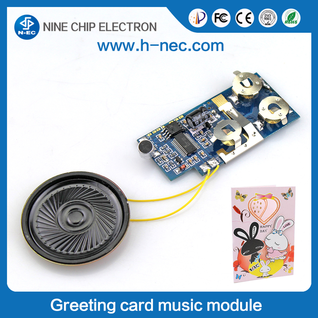 Programable usb music module greerting card sound chip