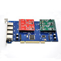 TDM410P 4port asterisk PCI trixbox elastix card with Voice FXS/FXO module,Analog voip card