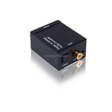 Digital to Analog Audio Converter with Digital Optical Toslink and S/pdif Coaxial Inputs and Analog RCA and AUX 3.5mm output