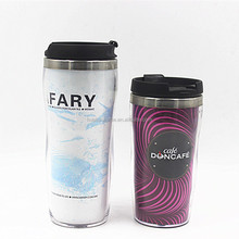 idea double wall 350ml 280ml insulated plastic coffee cups with lids and travel mug paper insert