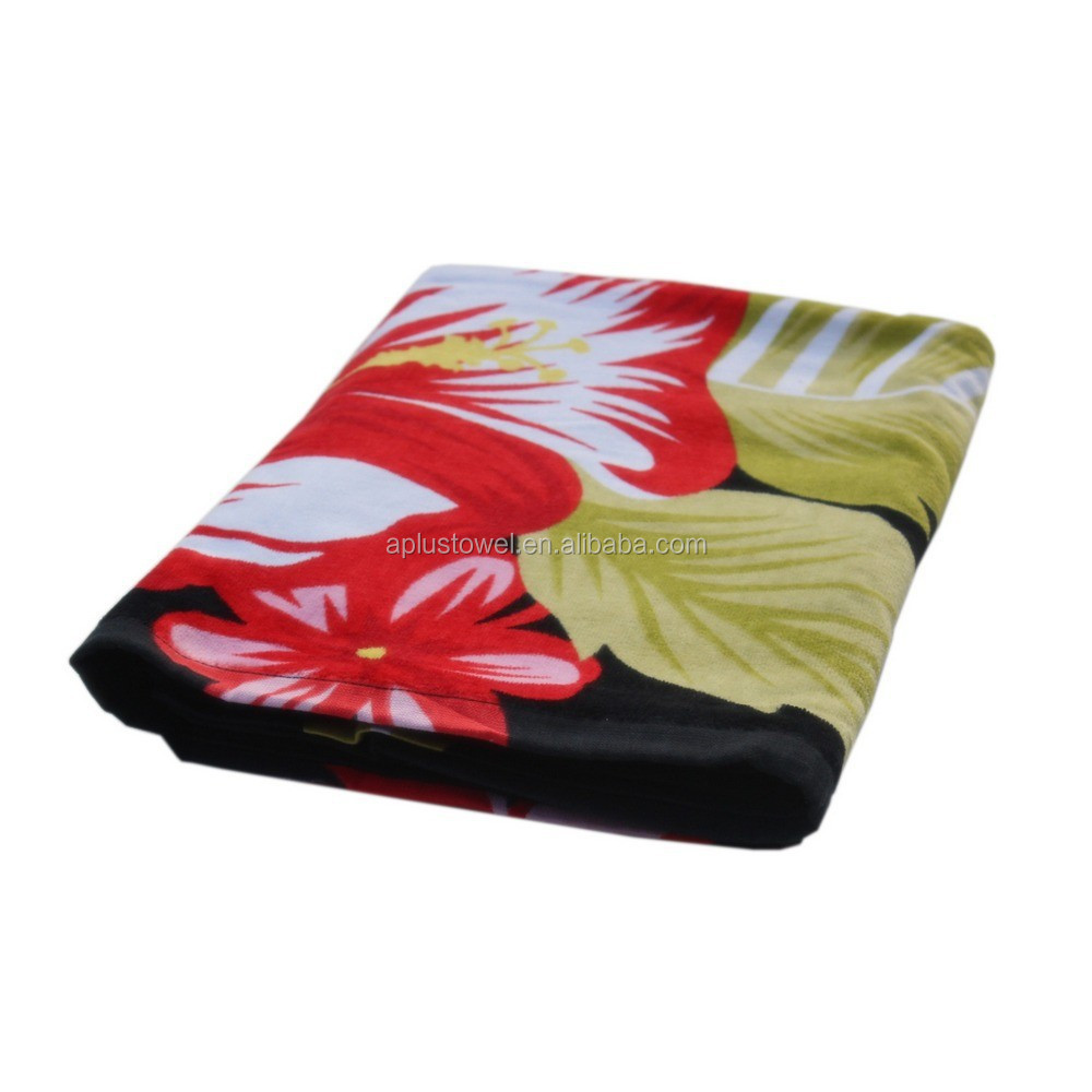 100% Cotton Sublimation Towel, Custom Printed Sublimation Beach Towel