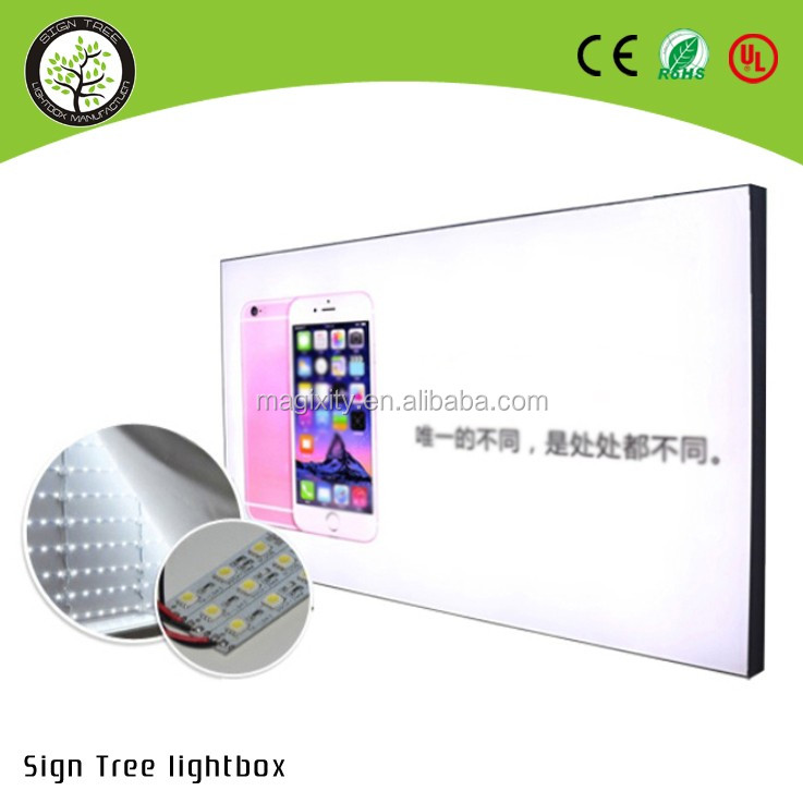 Edgelight AF14 Aluminum wall mount sign fixing led slim snap frame light box aluminum snap frame material