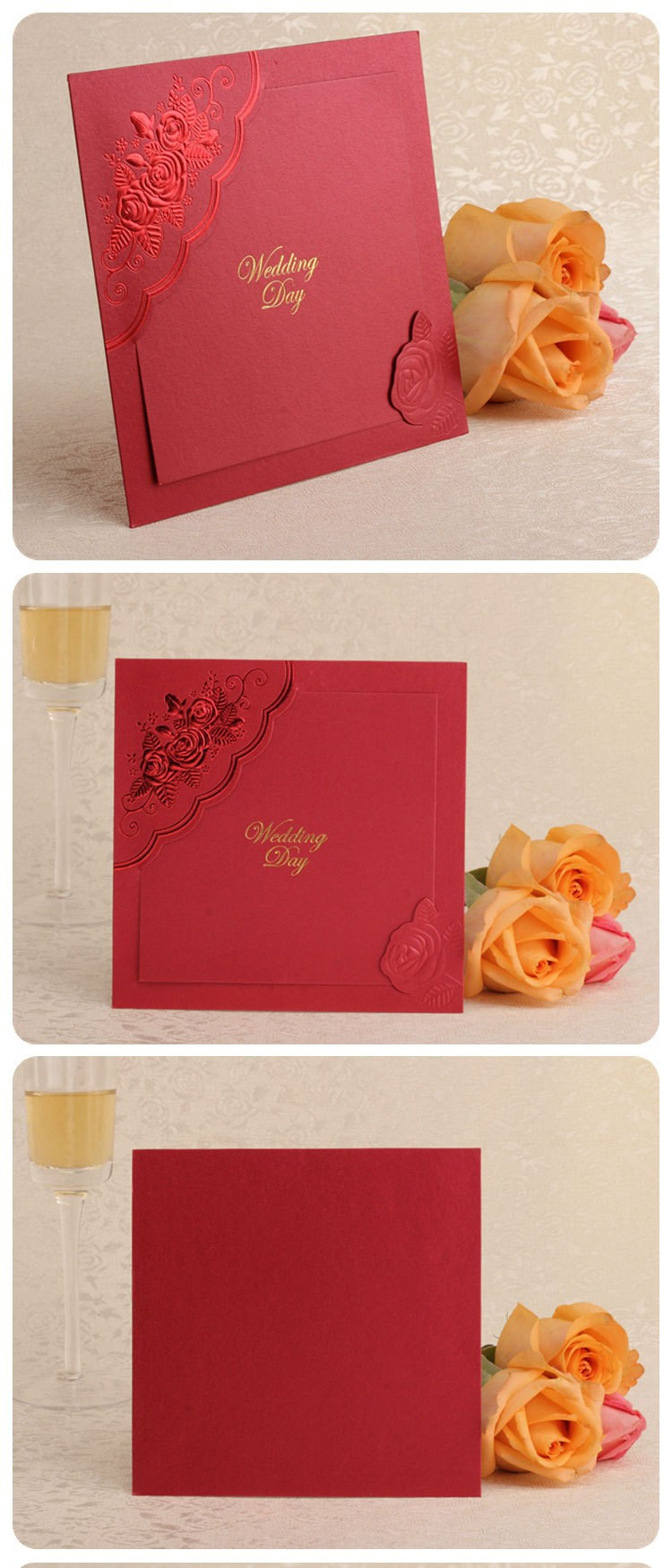 2016new arrive high grade chinese style invitation card,wedding invitation card with cheap price