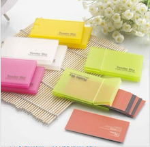 Custom colorful Plastic box /business card box/business card case