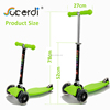 High quality cheap price girls boyrs kids 3 wheel green scooter lightweight foldable mini scooter for children 3+