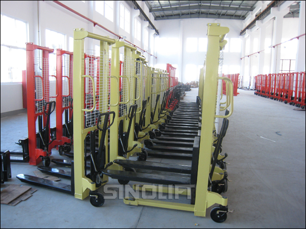 Hot! Sinolift CTY Single or Duplex Mast Manual Hydraulic Stacker