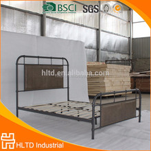 Bedroom furniture PU headboard king size metal frame bed