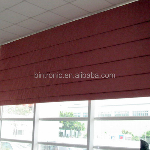 Bintronic Motorized Office Curtains and Blinds Motorized Roman Blinds Casement Window With Blinds
