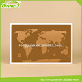 China factory decorative world map printed custom cork pin board