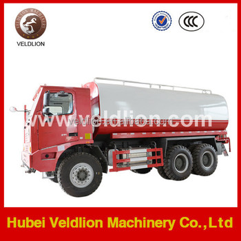 Howo 6*4 mining water truck, 50-70tons water tank truck
