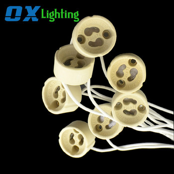 Ceramic Light Socket GU10 LED Halogen Bulb Lamp Holder