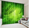 2016 Hottest fashion large photos green leaves 3D digital printing Curtain