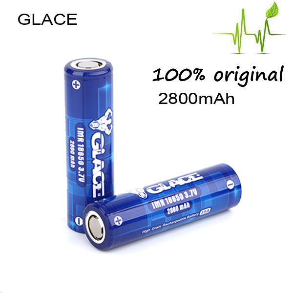 High energy density glace rechargeable 18650 2800mah li ion battery