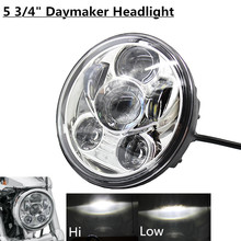 "5-3/4 in. Daymaker Projector LED Headlamp motocycle 5.75"" H4 High Low Beam LED Driving Light Headlamp for Harley Dyna"