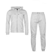 Custom Embroidered Logo Slim Fit Men Winter Sport Cotton Tracksuit