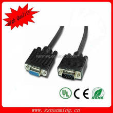 15 Pin VGA SVGA Male to Female M/F Extension Cable Cord high quality