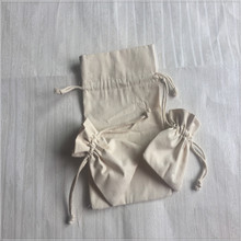 small cotton canvas drawstring bag pouch