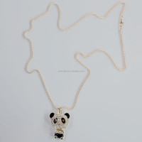 chinese popular panda pendant necklace with acrylic