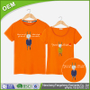 OEM plain decoration printed dri fit brand couple t-shirt