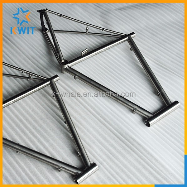 Customized MTB bicycle seamless titanium mountain bike frame