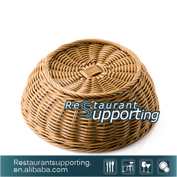 Excellent Quality Plastic Rattan Wicker Basket Bread Basket with Wholesale Price
