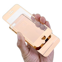 Front Back Mirror Color Tempered Glass screen Protector For Iphone 5