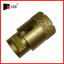 M14 Thread vacuum brazed diamond core drill bit