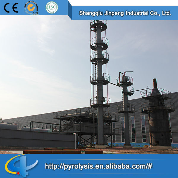 Plastic & Rubber Machinery Continuous Recycling Waste Oil to Diesel System