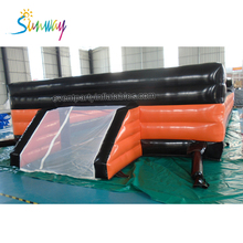 Outdoor Inflatable Soap Football Field , Inflatable Soccer Playground , Inflatable Sport Game For Adult