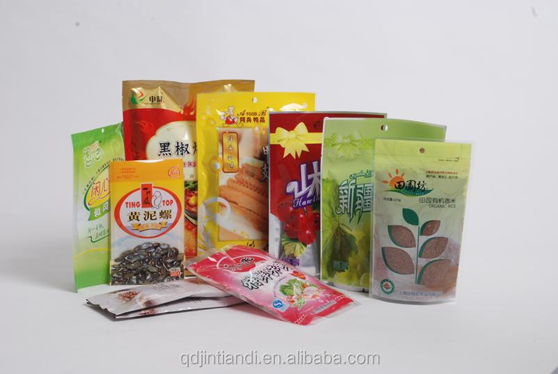 custom printed various types snack food packaging plastic storage bags