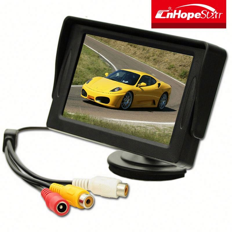 widescreen 4.3 inch lcd cctv monitor portable 2 av cctv test monitor