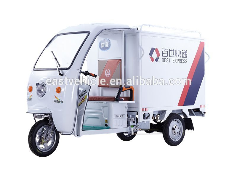 Factory Price Electric Cargo Motorcycle/Delivery Van Tricycle with Cabin