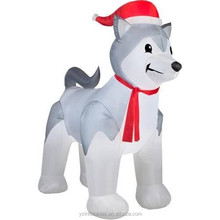 Custom giant husky dog christmas inflatable for sale