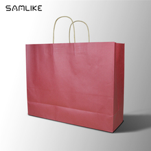 New design large size luxury cement shopping paper bag with handle for packing garment