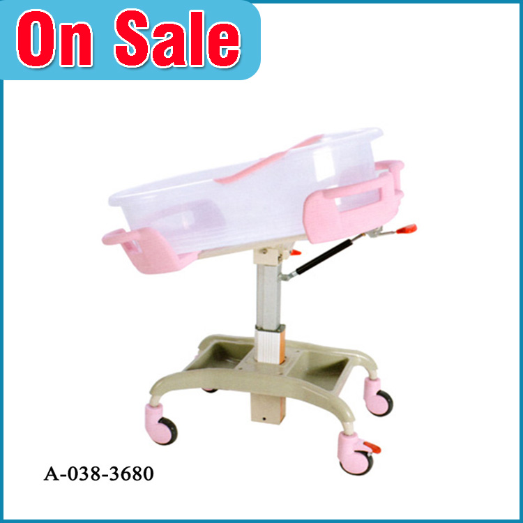 China manufacturer custom PP metal portable baby hospital bed for sale