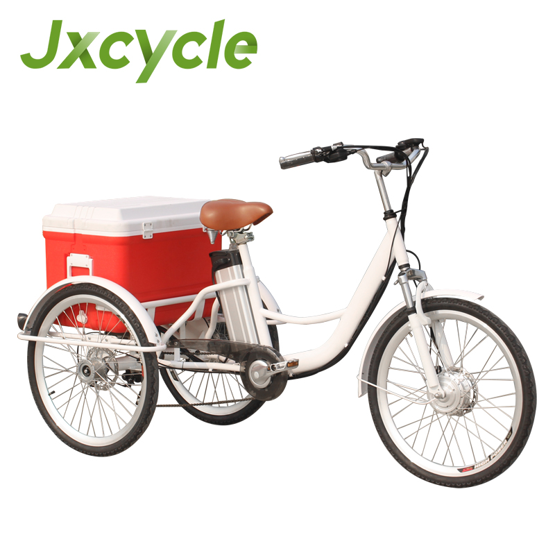 Thicker Frame and Anti Theft saddle Electric Adult Tricycle