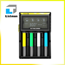 100% Wholesale best Charger Nitecore Digi D4 Charger for 26650 battery IMR/Lifepo4/NiMh/NiCd AA AAA battery charger