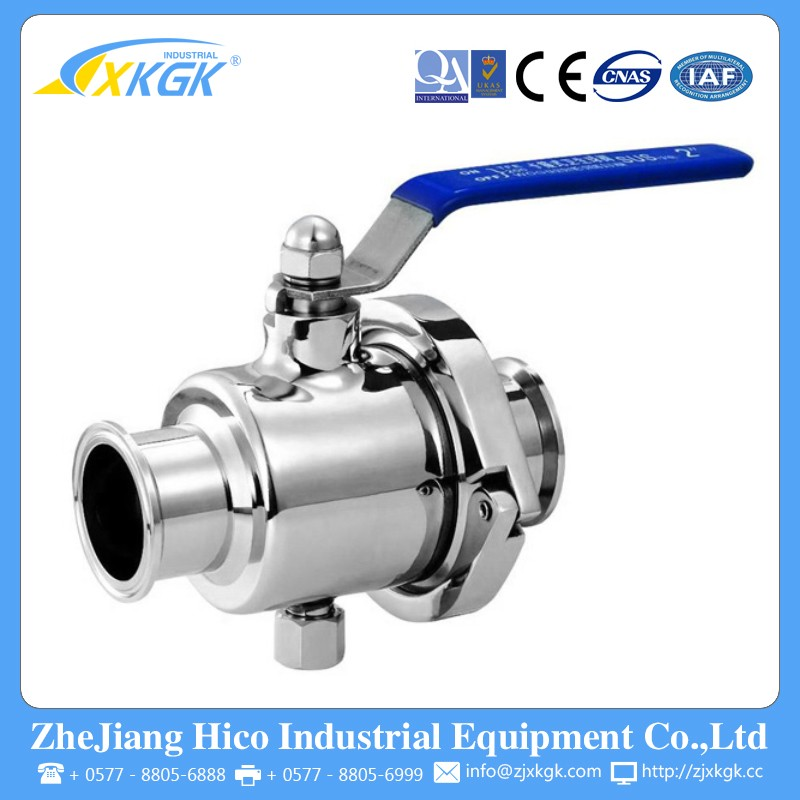 DN65 2.5 Inch Top Quality 304 Stainless Steel Sanitary Clamped Ball Valve