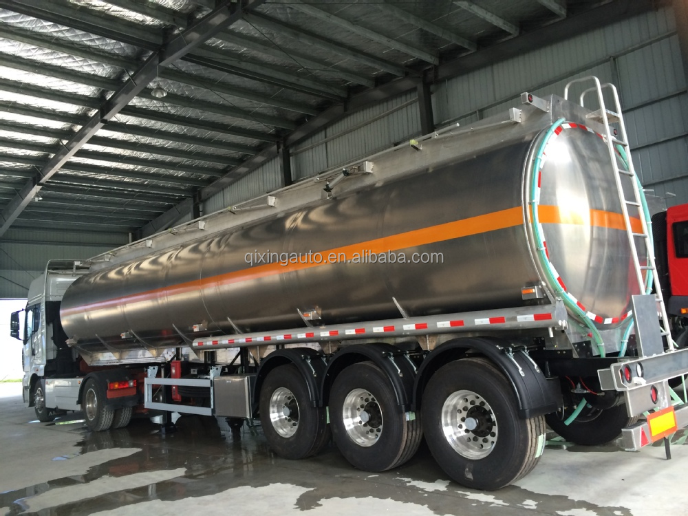 3axle 46000liter Aluminum Alloy Fuel Tanker Semi-trailer