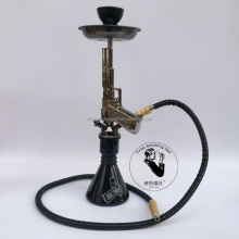 Zinc alloy Pistol Hookah Single tube medium Hookah shisha hookah sheesha chicha narguile al fakher starbuzz kaya maya