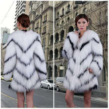 china supplier real fox fur coat wholesale new italian design knit coat for ladies