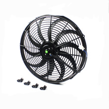 Mentor 12 inch Motorcycle Auto Radiator Fan with Curved Vane