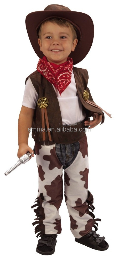 Cowboy toddler boys fancy dress kids costume Haloween party westernCC20002