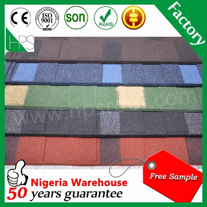 Popular stone coated metal roof tile /stone coated step tile roofing sheet