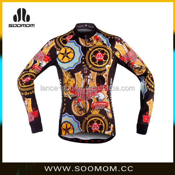 Couple Design light weight windproof comfortable allover 3D colored sublimated print Women's winter cycling jacket