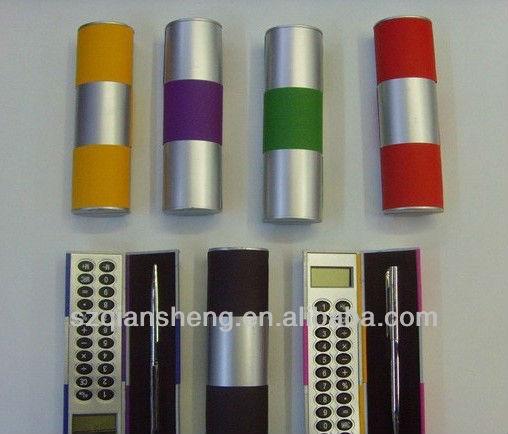 Mini Multi-function pocket size calculator,mini magic box calculator with ball pen
