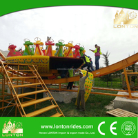 Amusement Park Equipment Flying UFO Track Game China Great Adult Rides