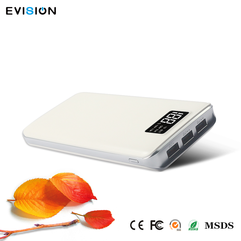 Low Cost 20000Mah White Battery Charger With 2A Current